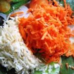 морковь и корень сельдерея натереть на терке